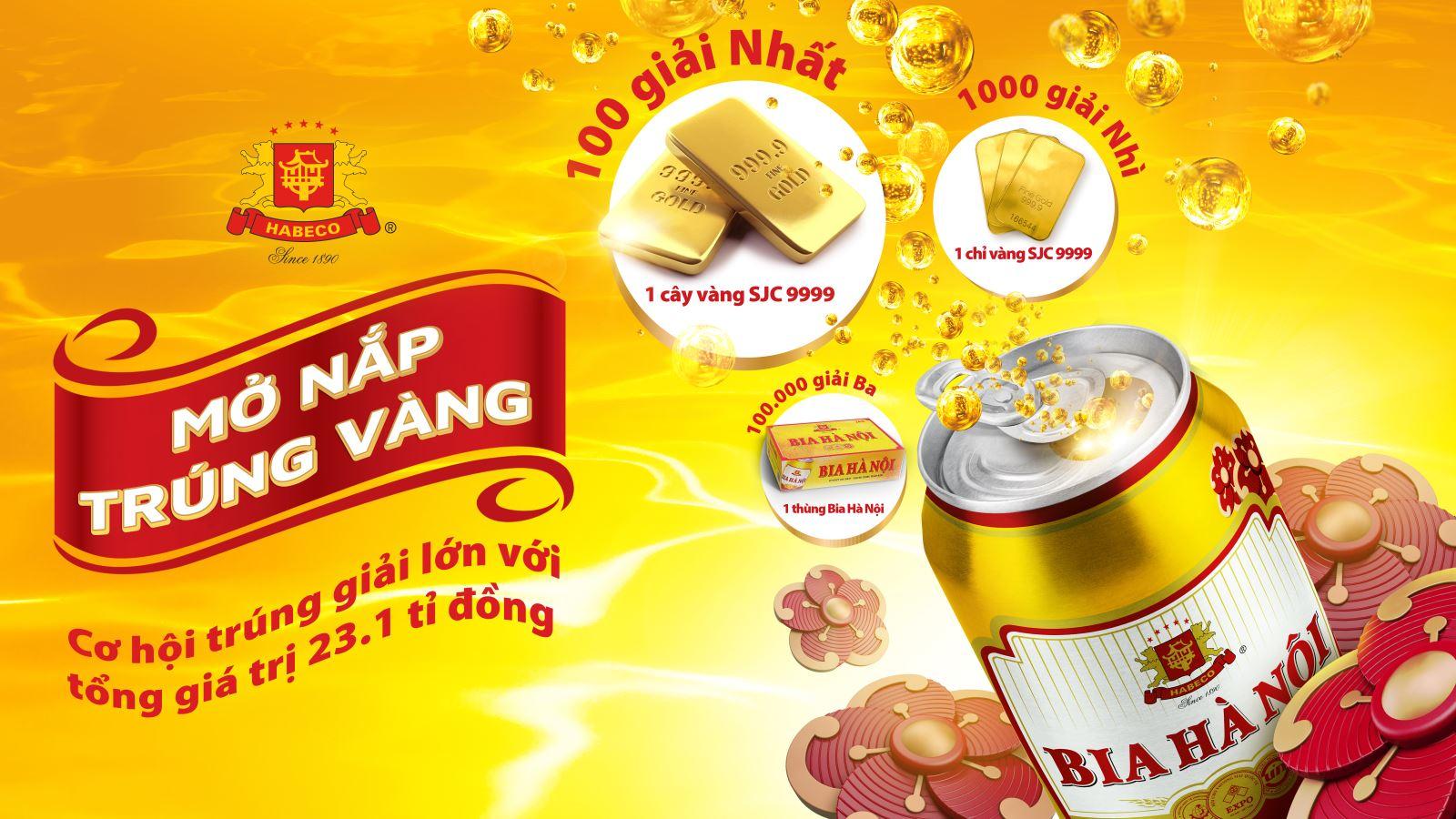 Trong thời gian này, đông đảo người tiêu dùng (từ đủ 18 tuổi trở lên) mến mộ Bia Hà Nội khi mua và giật nắp sản phẩm Bia lon Hà Nội Tết ...